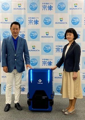伊豆美沙子宗像市長と後藤元晴代表